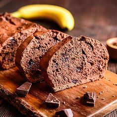 Fast, juicy low carb chocolate banana cake - recipe without sugar - # Chocolate Chip Banana Bread, Low Carb Chocolate, Gluten Free Chocolate, Chocolate Chips, Chocolate Lovers, Quick Bread Recipes, Banana Bread Recipes, Low Carb Recipes, Cake Recipe Without Sugar