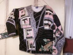 Quilted Jacket using sweatshirt as base