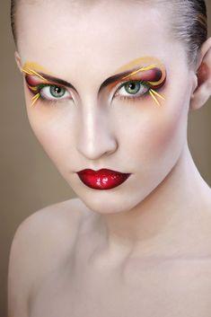 """Colorful make-up """"Fantasy"""" by Irina Jensen. Henriette (Model), Natalia Pipkina (Photographer)"""