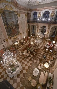 'A dining room in Schloss Leopoldskron in Salzburg, Austria'  JT (always in my own words)----