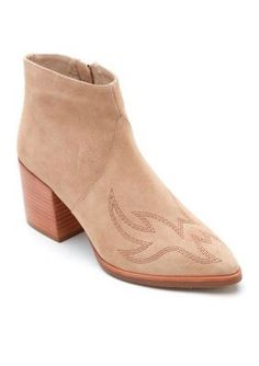 Matisse Natural Leather Suede Vox Booties