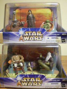 NIB Star Wars Attack of the Clones Jedi High Council complete set 1 and 2 #Hasbro