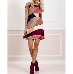 Mini φόρεμα εμπριμέ σε γραμμή Α.Δείτε το στο www.primadonna.com.gr
