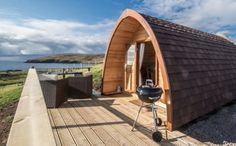 Glamping Scotland with Hot Tub. Little Abodes glamping Mega Pods with hot tubs are nestled on our croft in the beautiful North West Highlands of Scotland.