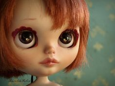 simply peppermint custom rbl blythe with friendly frieckles scalp takara
