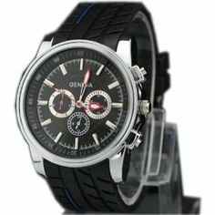 Tyre Style Silicone Mens Boys Quartz Movement Wrist Watch Watches Sports Casual Unknown. $5.85