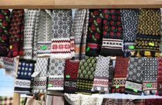 Knitted woolen mittens, Latvia