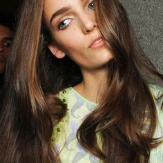 chestnut brown hair vanity