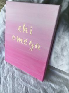 Customizable Glitter Letter Sorority Canvas // Chi Omega // Ombre Pink // Big Little Gift // Spring // Gifts for Her // Gold Sparkle ~CUSTOMIZE for your sorority~ A pink ombre background features the words Big Little Week, Big Little Gifts, Little Presents, Big Little Reveal, Glitter Canvas, Glitter Letters, Sorority Crafts, Sorority Paddles, Sorority Recruitment