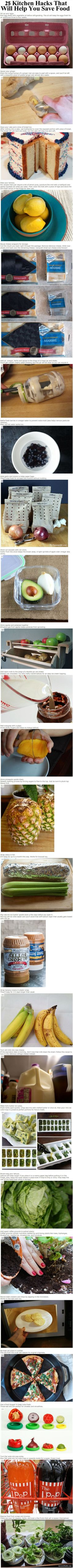20 Kitchen Hacks That Will Help You Save Food