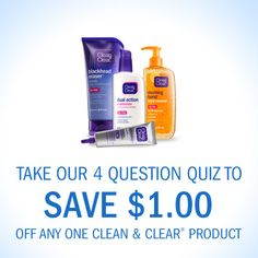 $1/1 Clean and Clear Coupon + Win One of 5 $50 Walmart Gift Card Giveaway! #CleanandClearWM #ad http://becomeacouponqueen.com