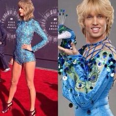 …which drew this comparison: | The 27 Most Important Things At The MTV Video Music Awards