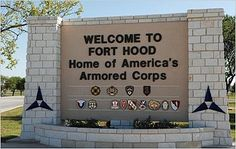Killeen, Texas ~ Home of Fort Hood | Covering a total of 340 square miles, it is the largest active duty armored post in the United States Armed Services.  The base supports multiple units, a corps headquarters and a mobilization mission. It also meets the training and support requirements for many smaller units and organizations, thus maintaining a vital defense force for the USA.