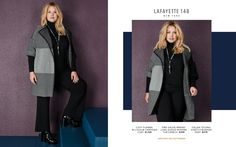 Toni Plus Fall 2017 Look Book Plus Size Designer Fashion  Lafayette 148 New York www.toniplus.com