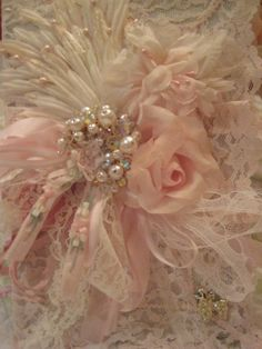 pink lace & vintage millinery journal $48 - click on pix and find many beautiful shabby chic ideas!
