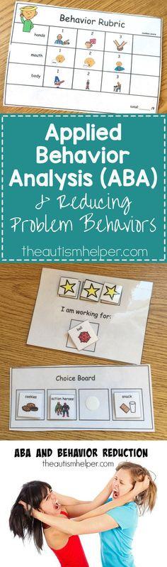Applied Behavioral Analysis (ABA) strategies breakdown on the blog! From theautismhelper.com #theautismhelper