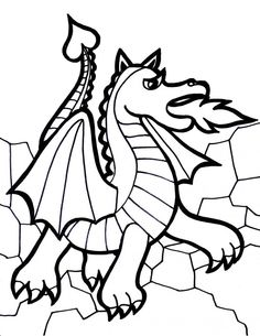 Dragon Coloring Pages Sketch Page