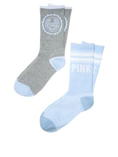 Crew Sock PINK Heather charcoal/Morning Sky