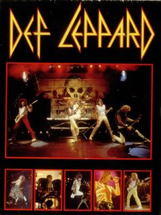 Mini Print of Def Leppard - Nassau Coliseum 1983 Rock Posters, Band Posters, Concert Posters, Music Posters, Gig Poster, Def Leppard, Pet Shop Boys, Pop Rock, Rock N Roll