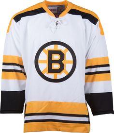 Boston Bruins CCM Vintage 1970 White Replica NHL Hockey Jersey CoolHockey d57379d39