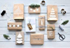 DIY - 9 schöne und wirkungsvolle Verpackungen für Weihnachtsgeschenke mit Packpapier und einfachen Materialien