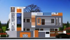 House Balcony Design, House Ceiling Design, Ceiling Design Living Room, Duplex House Design, House Front Design, Modern Architectural Styles, New Modern House, Living Room Tv Unit Designs, Latest House Designs