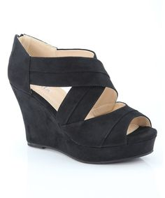 Another great find on #zulily! Black Wrap Nine Wedge #zulilyfinds