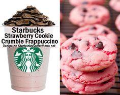 Starbucks Strawberry Cookie Crumble Frappuccino #StarbucksSecretMenu Recipe: http://starbuckssecretmenu.net/starbucks-secret-menu-strawberry-cookie-crumble-frappuccino/