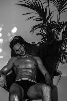 Dejan Obradovic- Male Model. Shirtless. Calvin Klein Underwear.