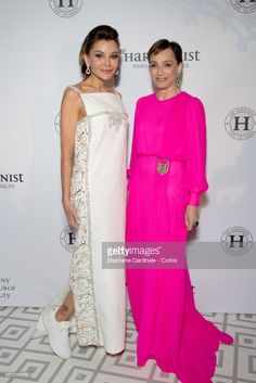 Lola Karimova-Tillyaeva and Kristin Scott Thomas attend The Harmonist Party during the 70th annual Cannes Film Festival at on May 22, 2017 in Cannes, France.