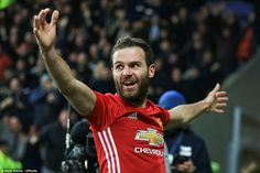 Juan Mata celebrates after putting the Premier League contest beyond all doubt with United's third of the afternoon