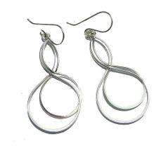 Sterling Silver Twisted Dangle Earrings – JaeBee