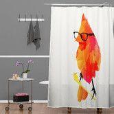 Found it at Wayfair - Robert Farkas Punk Bird Shower Curtain Modern Shower Curtains, Bathroom Shower Curtains, Bathroom Stuff, Bathroom Ideas, Bathroom Updates, Bathroom Inspiration, Bird Shower Curtain, Orange Bathrooms, Contemporary Shower