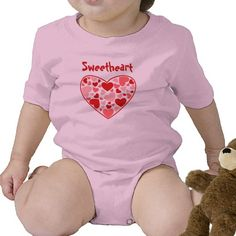 Customizabale Sweetheart Infant Creeper. For sale at www.zazzle.com/spectaculardesigns*