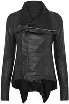 black winged leather biker jacket