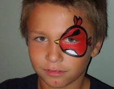 face painting - Angry bird