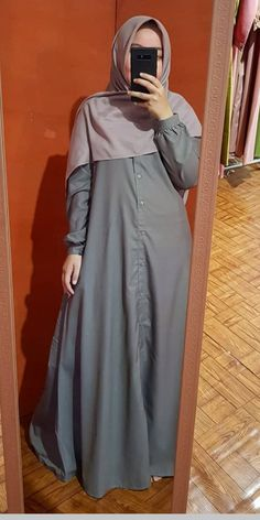 Ootd Hijab, Hijab Outfit, Baju Couple Muslim, Abaya Fashion, Hijabs, Kaftan, Trends, Casual, Girls