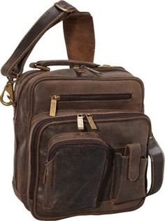 ClaireChase Jumbo Man Bag Distressed Brown - via eBags.com! Cute Purses cd4e02edbfb2f