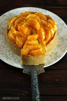 SABOREANDO EN COLORES: Cheesecake de naranja