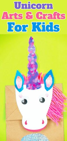 Unicorn / Arts & Crafts / For Kids Easy Toddler Crafts, Easy Diy Crafts, Craft Stick Crafts, Preschool Crafts, Craft Projects For Kids, Crafts For Kids To Make, Craft Ideas, Unicorn Crafts, Unicorn Art