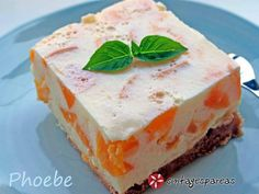 My Dessert, Dessert Recipes, Greek Recipes, Feta, Cheesecake, Deserts, Food And Drink, Pudding, Sweets