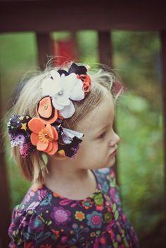 Halloween felt flower crown