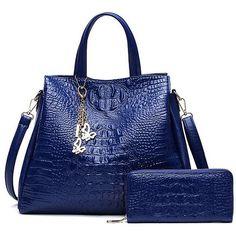 Fashion Crocodile Pattern Women Shoulder Bag Women Handbags Ladies Leather Tote Bag Women's Handbag Purses And Handbag Sac Femme Tote Handbags, Purses And Handbags, Leather Handbags, Coin Purses, Ladies Handbags, Gucci Handbags, Luxury Handbags, Designer Handbags, Crossbody Bags
