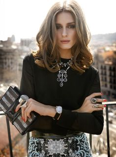 OP l Promod Oliviapalermo, Statement Necklaces, Fashion Style, Beautiful, Style Icons, Hair Style, Fall Outfit, Olivia Palermo, Rabat Magazines Más