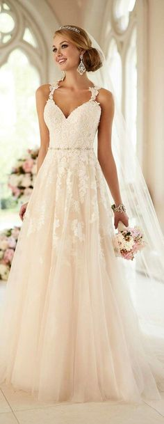 Stella York Wedding Dresses - Search our photo gallery for pictures of wedding dresses by Stella York. Find the perfect dress with recent Stella York photos. Dream Wedding Dresses, Designer Wedding Dresses, Bridal Dresses, Wedding Gowns, Bridesmaid Dresses, Spring Wedding Dresses, Wedding Dresses With Straps, Wedding Dress Big Bust, Brides Dresses Lace
