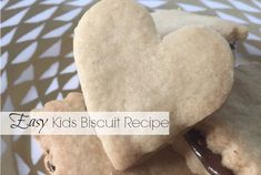 If you& planning on making biscuits, either on your own or with the kids, then this foolproof 3 ingredient easy biscuit recipe is the one you need to try! Easy Biscuit Recipe 3 Ingredients, Biscuit Recipe For Kids, Sweet Biscuit Recipe, Plain Cookies, Cookies For Kids, How To Make Biscuits, Making Biscuits, Buscuit Recipe, Easy Cakes For Kids