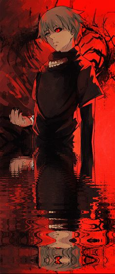 """Tokyo Ghoul, 1mi0: """"New art and very old art with the water effect thing ! """""""