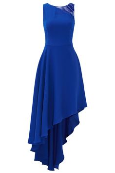 Indigo Lavelle Gown by Halston Heritage - Rent the Runway Blue Ball Gowns, Chiffon Evening Dresses, Blue Gown, Chiffon Gown, Pretty Prom Dresses, Beautiful Dresses, Long Dresses, Fall Dresses, Formal Dresses