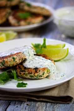 Turkey Burgers with Cilantro Lime Sauce. Can't wait to try this one. Cilantro is the bomb-diggity!