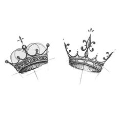 Okay so and Adalynn I'm thinking silver with emerald and diam… – Couple Tattoos Mini Tattoos, Pair Tattoos, Black Ink Tattoos, Couple Tattoos, Trendy Tattoos, Body Art Tattoos, New Tattoos, Tattoos For Women, Crown Tattoos